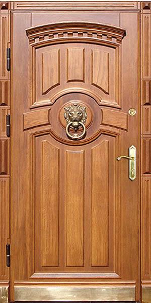 стальные двери дерево