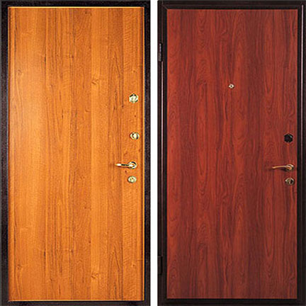 металлическая дверь ламинат недорого