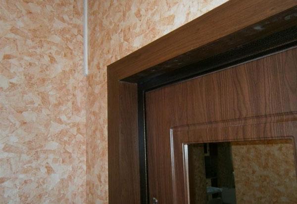 отделка железной двери изнутри ламинатом смотреть