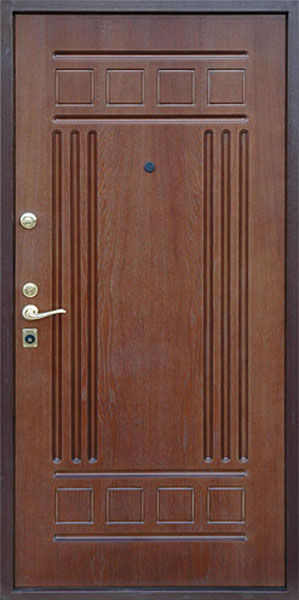 стальная входная дверь с мдф