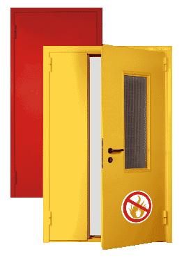 дверь огнестойкая металлическая