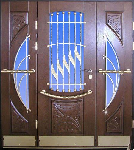 двойная металлическая входная дверь на тамбур