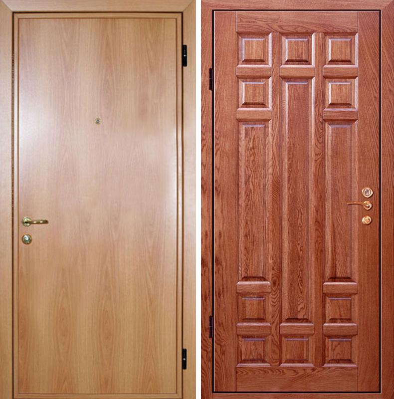 стальные двери отделка массив
