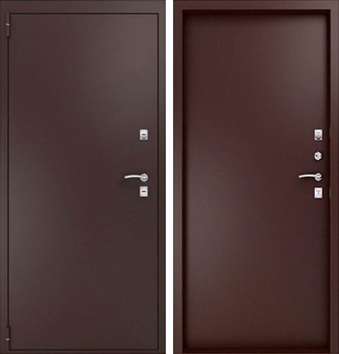 стальная дверь с порошковым напылением с двух сторон