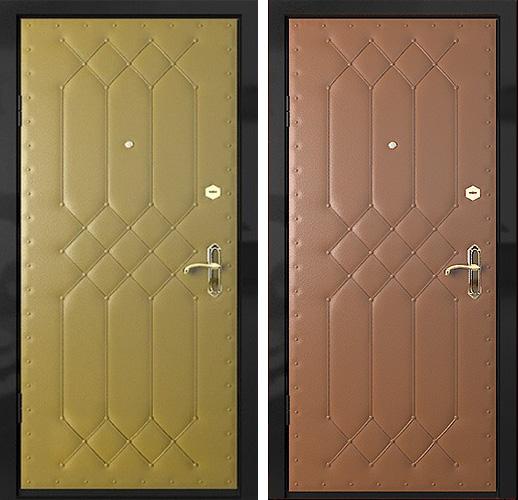 металлические двери с винилискожей с двух сторон