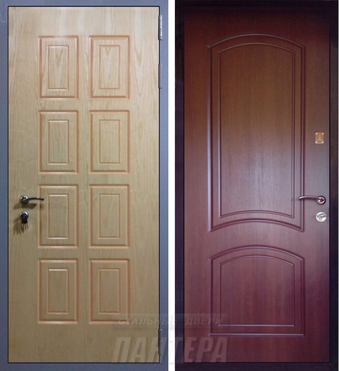 двери металлические филенчатые элитные с мдф