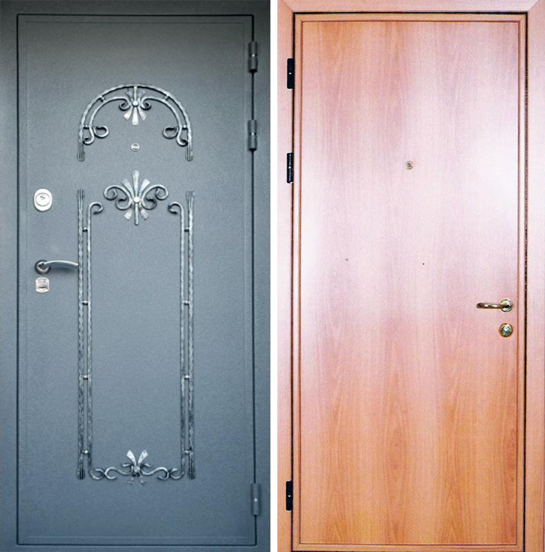 металлические двери с пуленепробиваемым стеклом и ковкой купить в москве