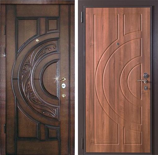 входные двери внутри массив дуба