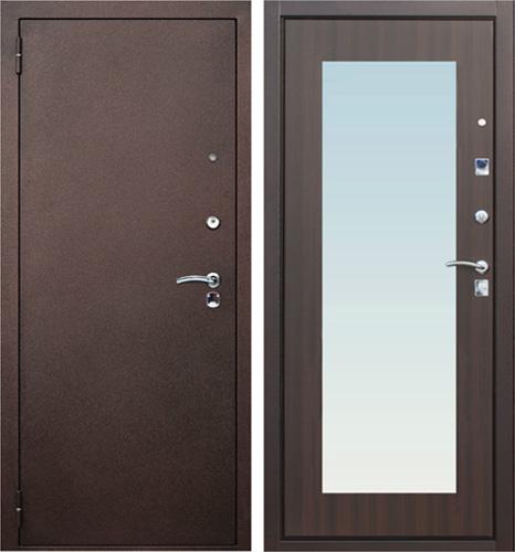 двери входные с зеркалом на внутренней стороне